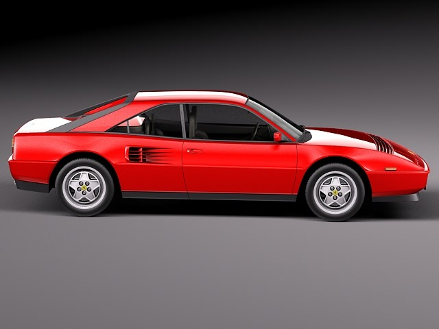 ferrari mondial 8 1980 3d model max obj 3ds fbx c4d lwo lw lws. Black Bedroom Furniture Sets. Home Design Ideas