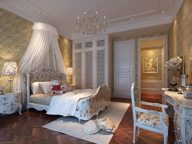 Fancy Bedroom For Girl 3d Model Max Cgtrader Com