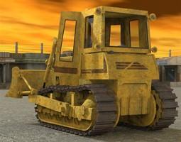 3D Bulldozer FD14 E Poser