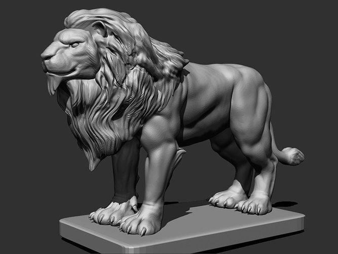 lion gargoyle 3d model obj stl 1