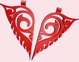 2-Piece Heart Necklace 3D Model