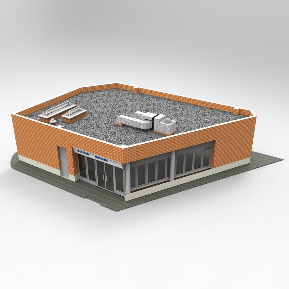 Auxiliar building studio max 3d model max for 3d studio max models