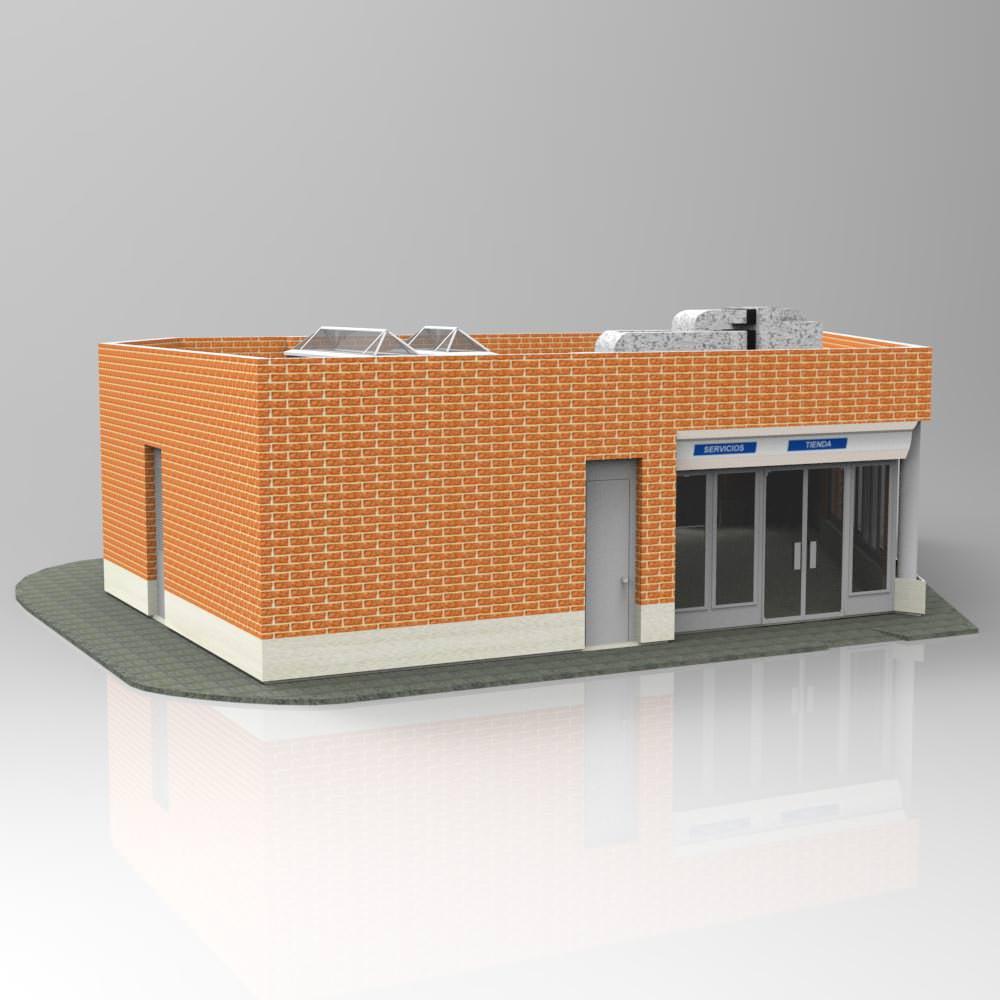 Auxiliar building studio max 3d model max pdf for 3d studio max models