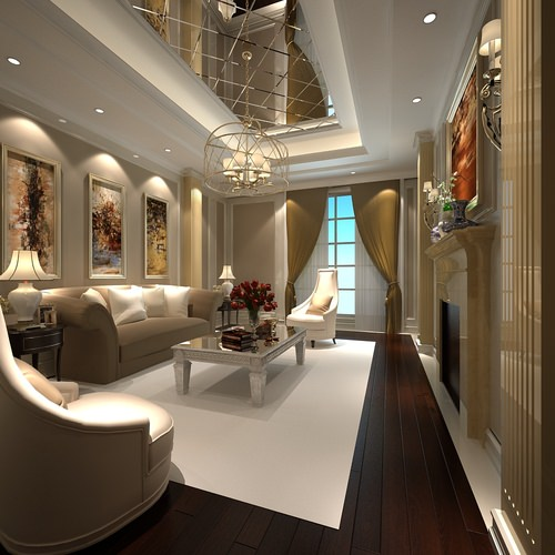 Luxury White Living Room 3D Model MAX | CGTrader.com