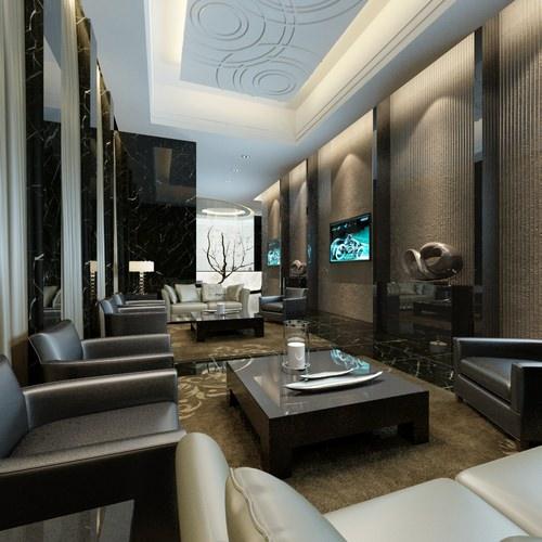 Luxury Realistic Modern Living Room3D model