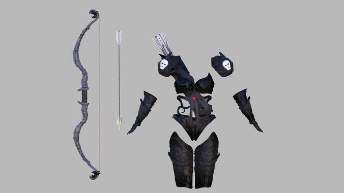 Fantasy archers armor3D model