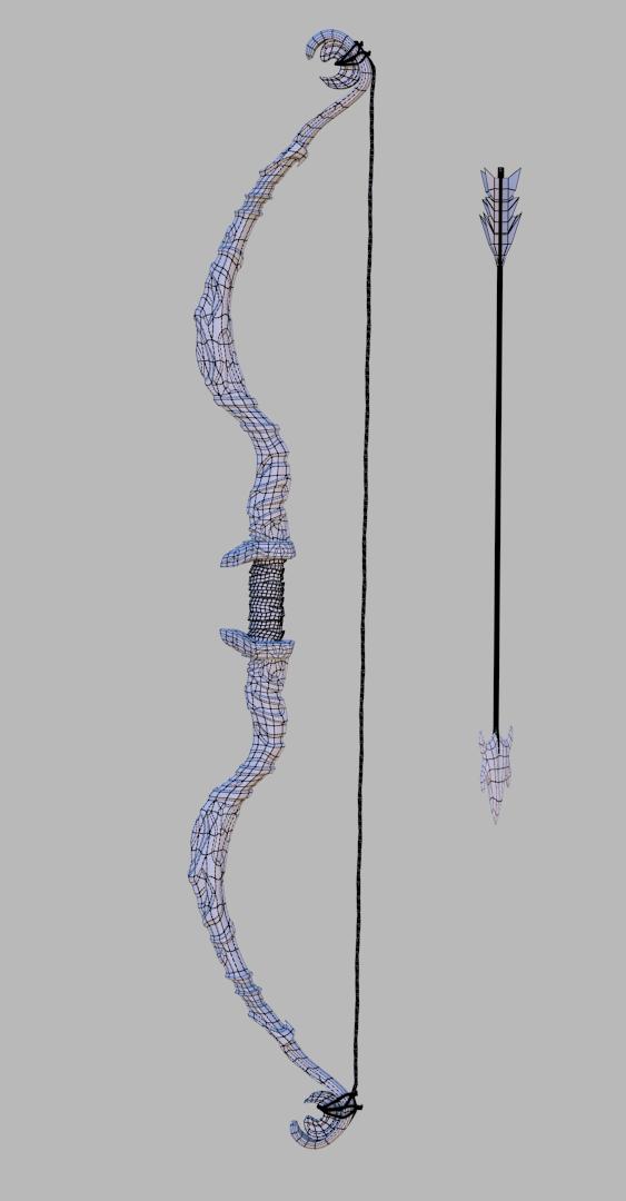 fantasy bow 3d model  max  mtl