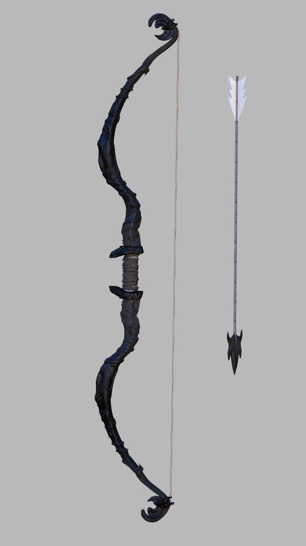 Fantasy bow 3D Model .max .mtl - CGTrader.com