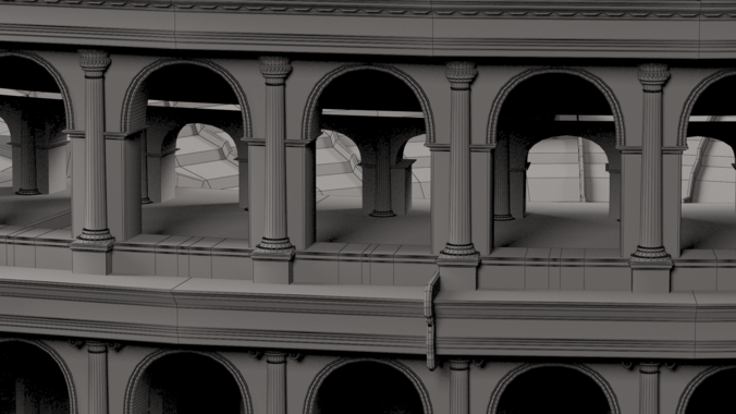 Roman Colosseum 3D Model .max .obj .fbx