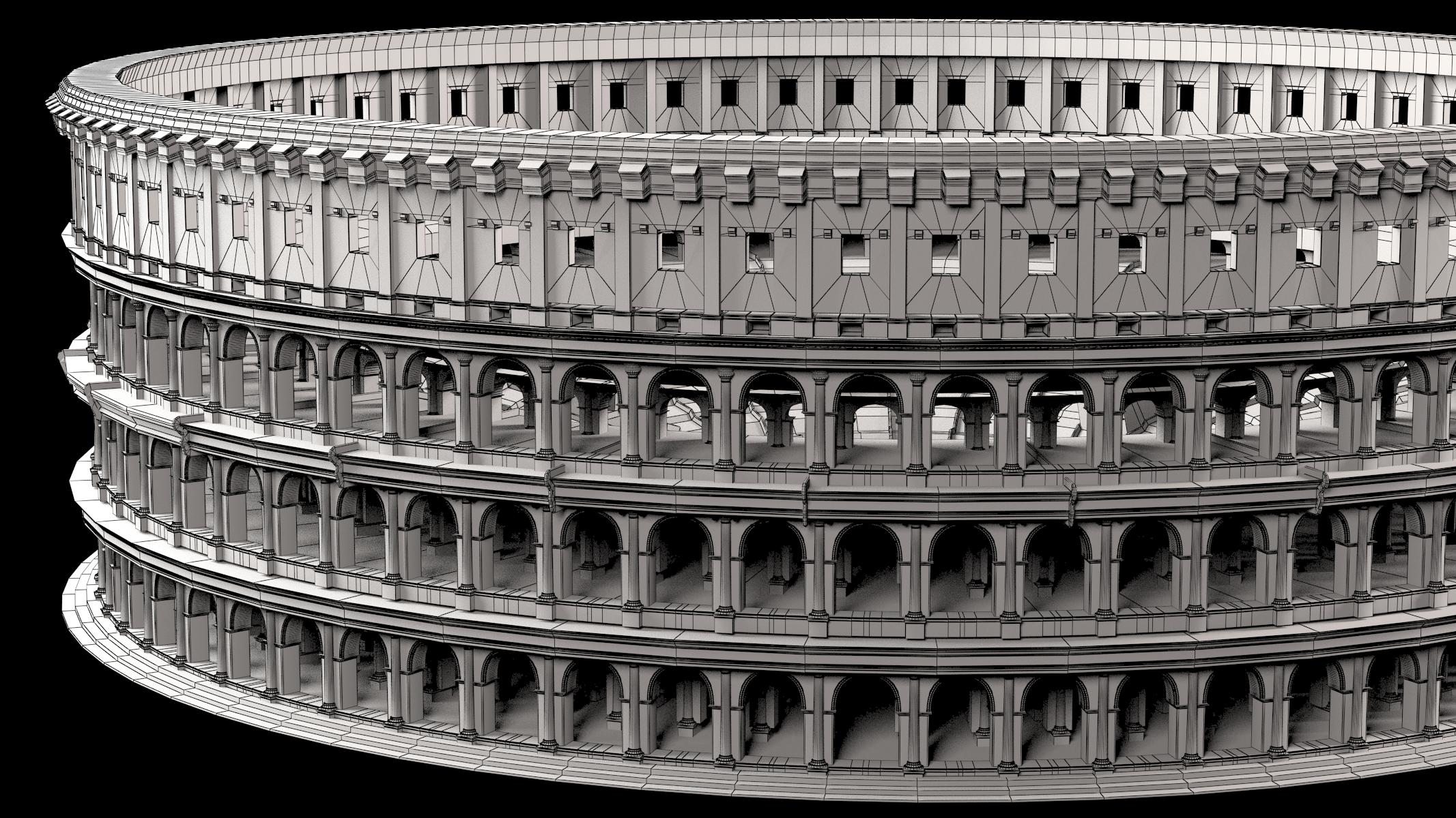 Roman Colosseum 3d Model Max Obj Fbx Cgtrader Com