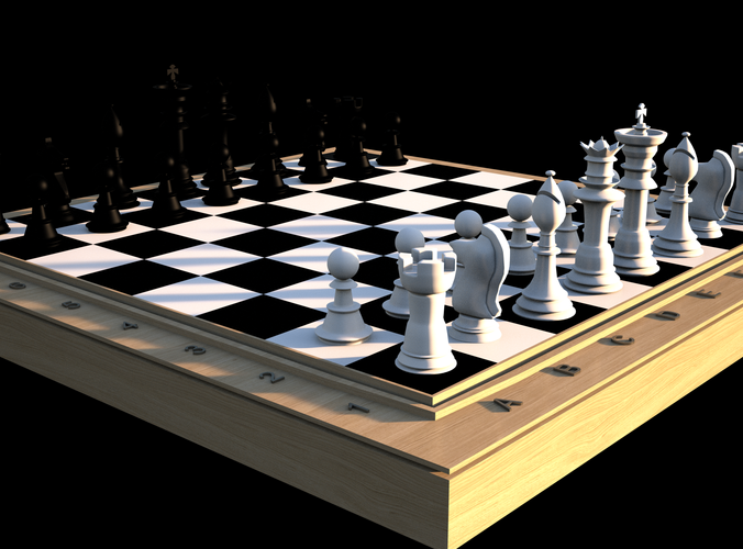 Typical chess set3D model