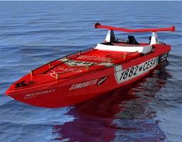 3d offshore racer studio max and obj