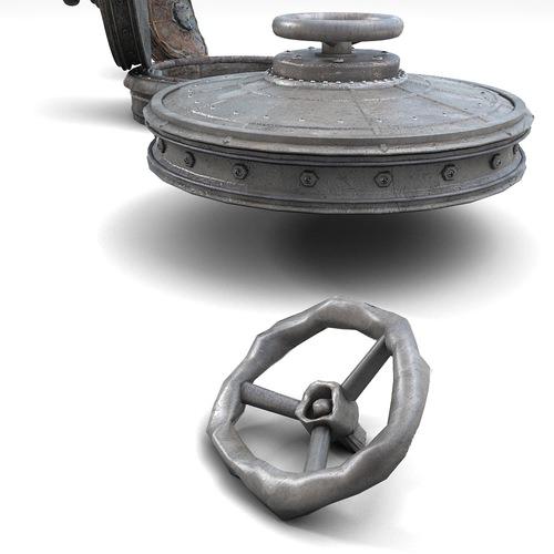 sewer lid 2 3d model max obj fbx. Black Bedroom Furniture Sets. Home Design Ideas