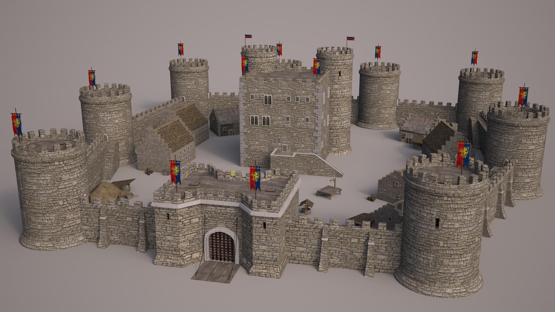 Meideval Castle set