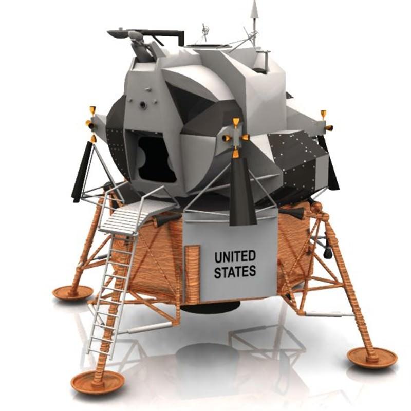 24 Lander Vanity: Eagle Lunar Lander Studio Max 3D Model .max