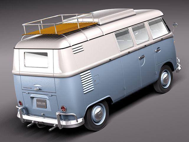 Volkswagen Camper Van 1950 3D Model 3D Model MAX OBJ 3DS FBX C4D LWO LW LWS - CGTrader.com