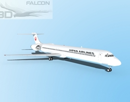 rigged Falcon3D MD-80 Japan Airlines