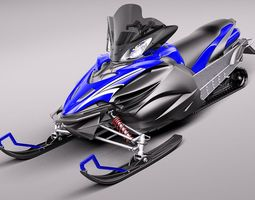 Yamaha Apex Snowmobile 2011 3D Model 3D Model