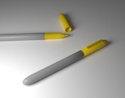 3D model Yellow Marker