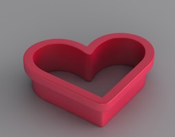 Heart Toast/Pastry Cutter 3D Model
