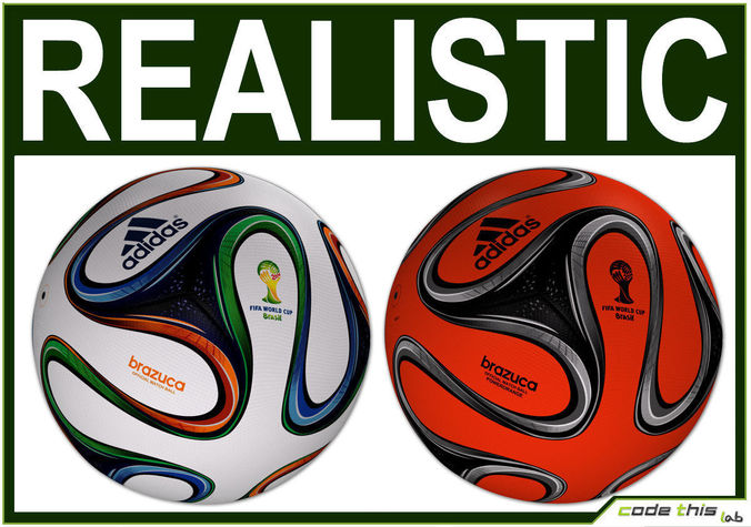 Brazuca Official Soccer Ball World Cup 20143D model