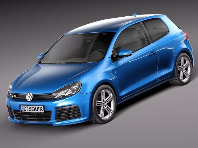 volkswagen golf r 2012 3d model 3d model max obj mtl 3ds fbx c4d lwo lw lws 1