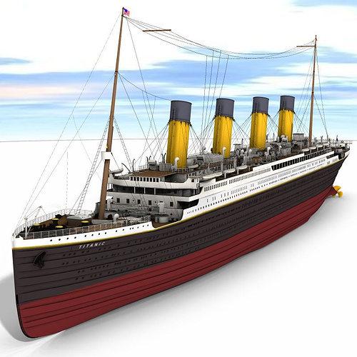 titanic studio max 3d model max obj mtl tga pdf 1