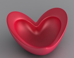Heart Decorative Bowl 3D Model