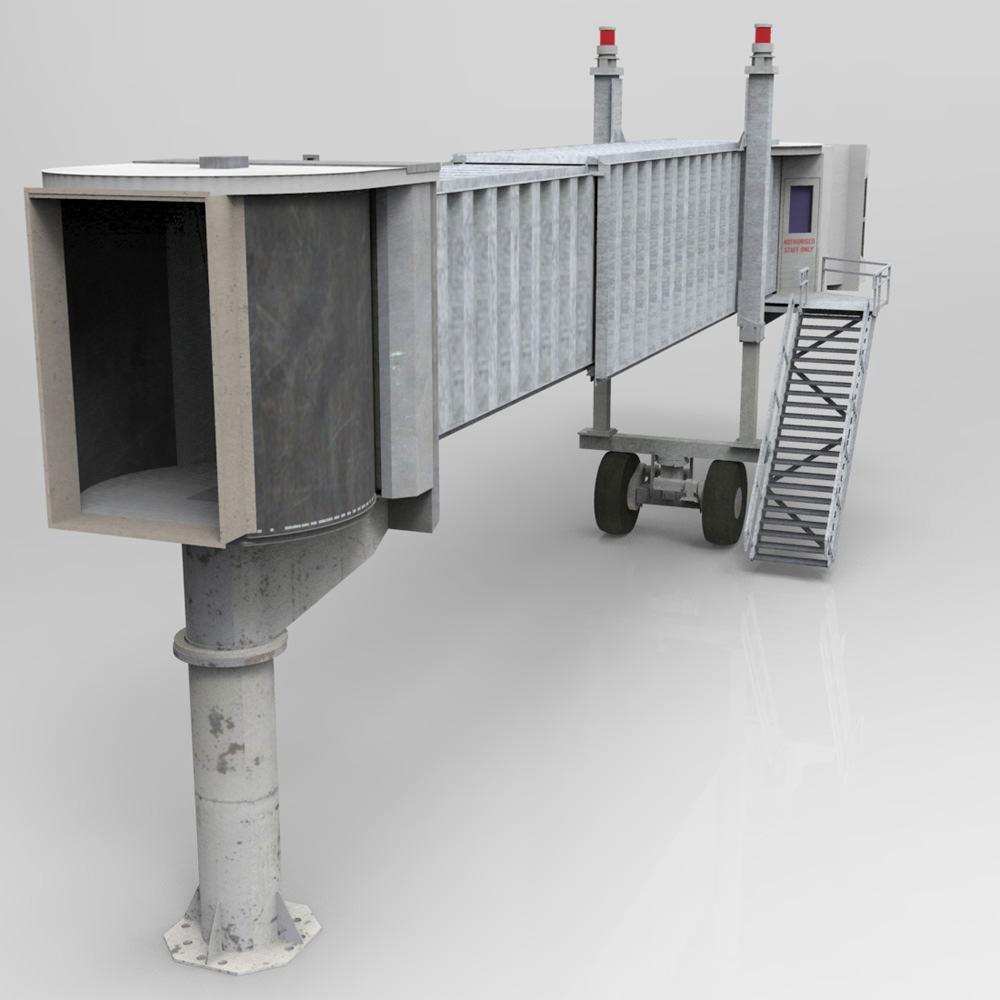 Air Bridge Poser Vue 3D Model Rigged .vue .pz3 .pp2