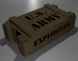 3D model game-ready Ammo Crate