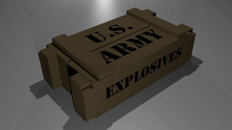 Ammo Crate Free 3D Model Game Ready Obj 3ds Blend Mtl