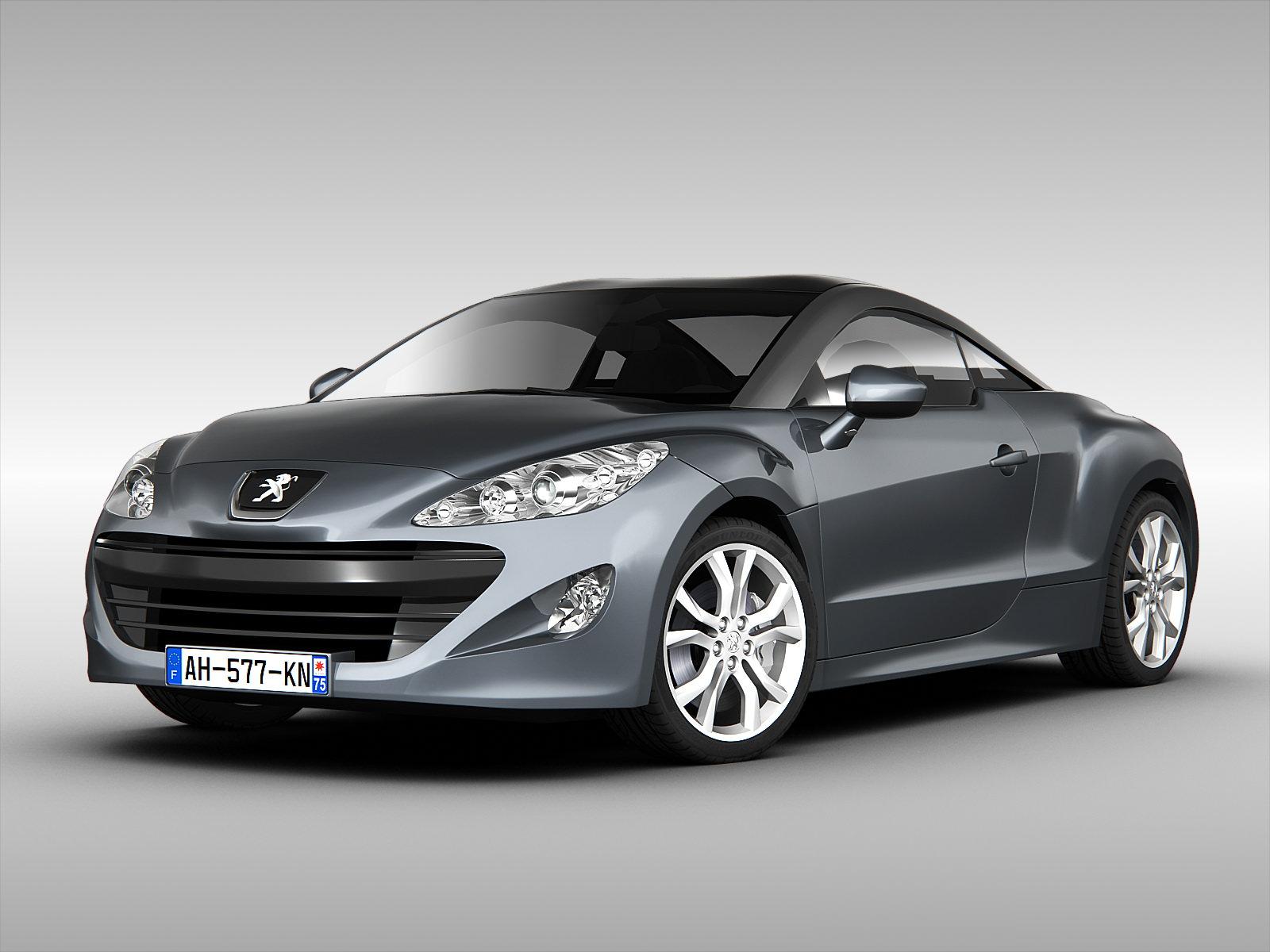 Peugeot Rcz 2012 3d Model Max Obj 3ds Fbx Cgtrader Com