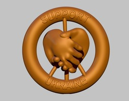 Grid_ukraine_support_badge_3d_model_obj_stl_5a562a36-e08a-40ec-adfc-141858524b7d