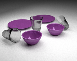 3D model Lavender Dishes foe 2014