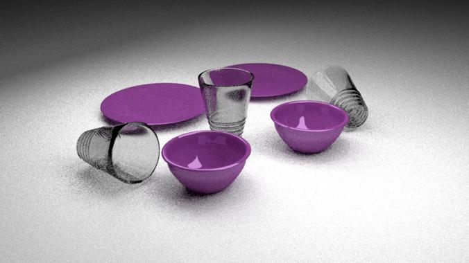 Lavender Dishes foe 20143D model