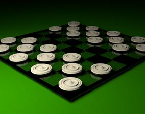 3D asset Black White Checkers