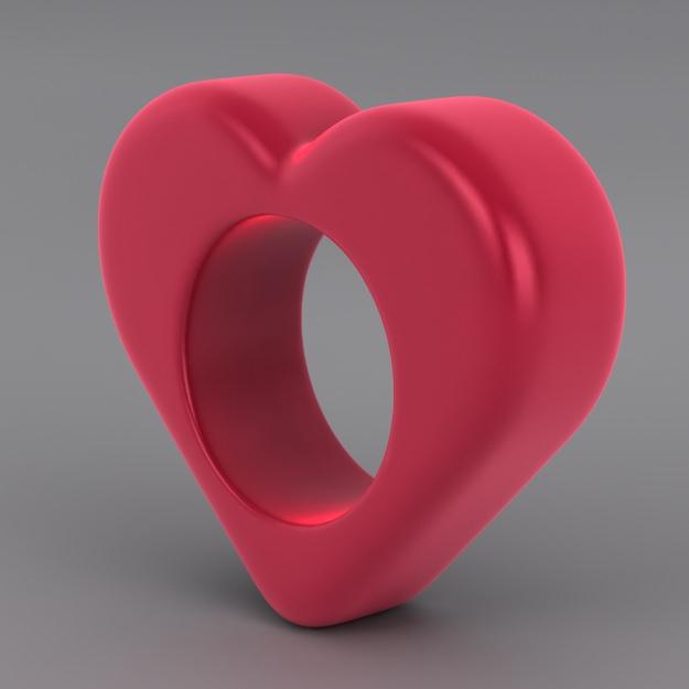 Heart Napkin Ring Free 3D Model 3D Printable STL