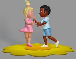 Sweet Children Scene 3D Model