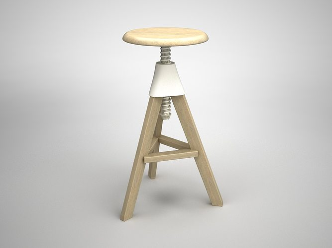 3d Tom Jerry High Stool Cgtrader