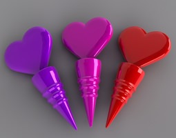 Heart Bottle Stopper 3D Model