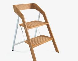 vintage usit stepladder chair 2-step version 3d model