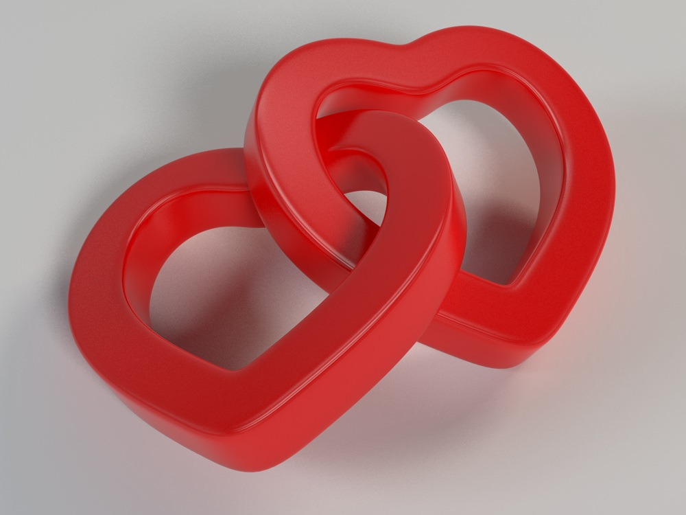 3d Print Model Linked Hearts 001 Cgtrader
