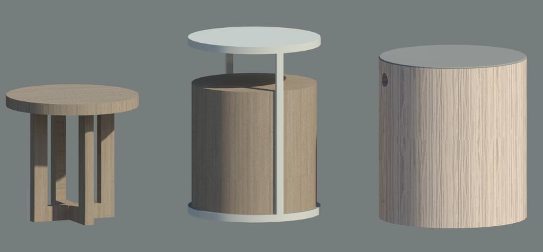 Furniture Accent Table 3D Model .rfa - CGTrader.