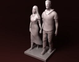 Walking together 3D print model