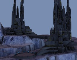 Grid_ice_world_city_3d_model_obj_5f55737d-5cea-44d4-94f5-cc188ce09022