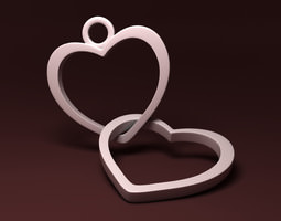 Simple Heart Necklace 3D Model