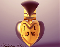 Hidden Love Pendant 3D Model
