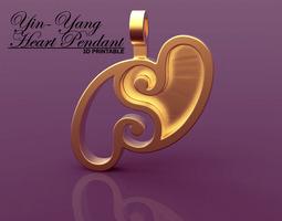 Yin-Yang Hearts Pendant 3D Model