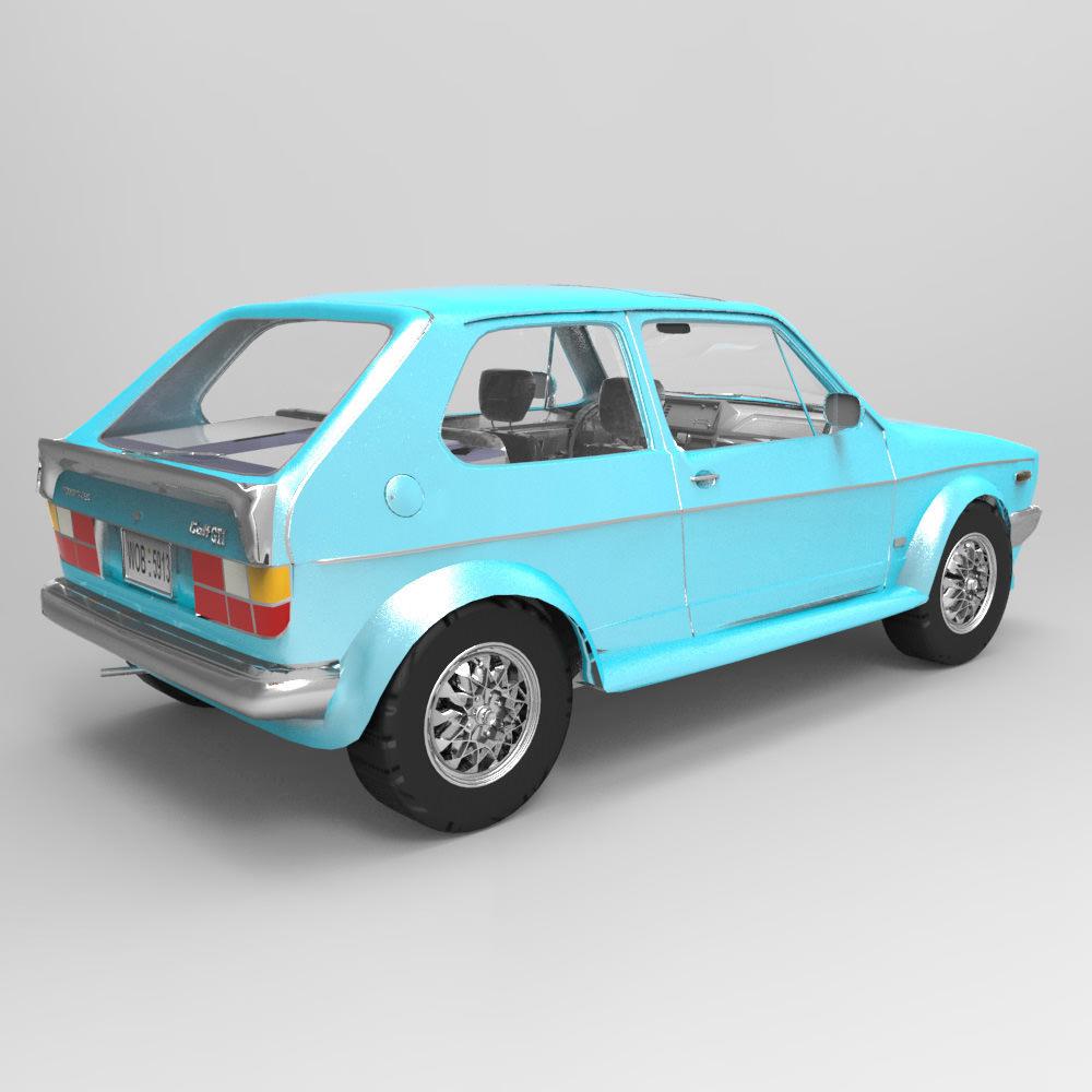 Volkswagen Golf I GTI Studio Max 3D Model .max