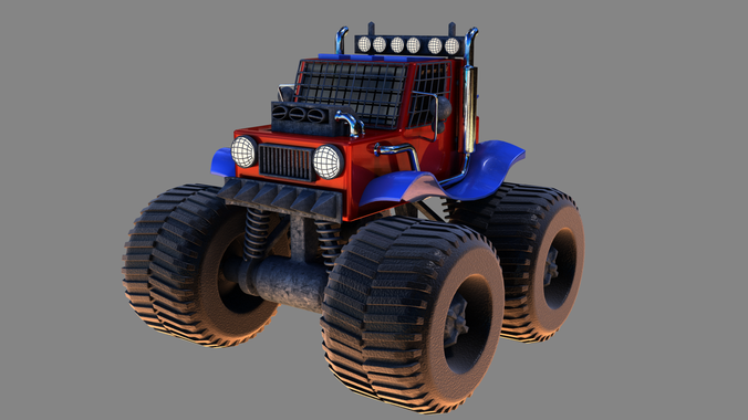 Monster truck3D model